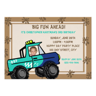 Cumpleaños de cuatro ruedas de la diversión