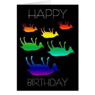 Cumpleaños de desfallecimiento de las cabras tarjeta de felicitación