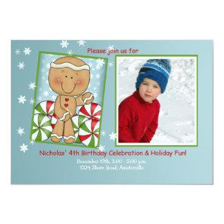 Cumpleaños de diciembre - invitación de la foto