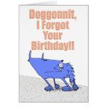 Cumpleaños de Doggonnit Tarjetas