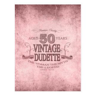 Cumpleaños de Dudette del vintage de las mujeres Postales