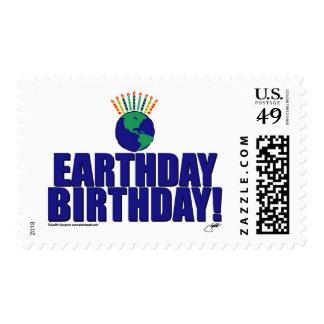 Cumpleaños de Earthday Sello