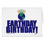 Cumpleaños de Earthday Tarjetón