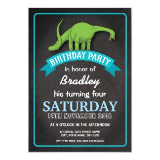 """Cumpleaños de encargo azul del muchacho de la invitación 5"""" x 7"""""""