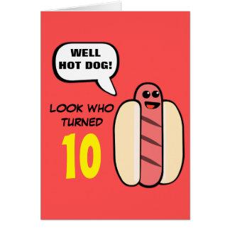 Cumpleaños de encargo del carácter del perrito tarjeta de felicitación