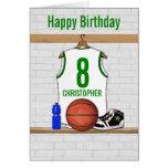 Cumpleaños de encargo del jersey del baloncesto (v tarjeta