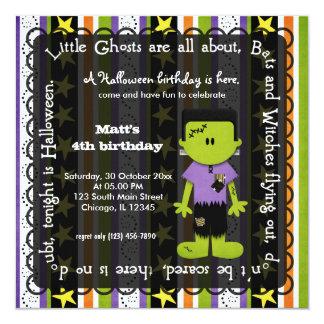 """Cumpleaños de Frankenstein de la fórmula de Invitación 5.25"""" X 5.25"""""""