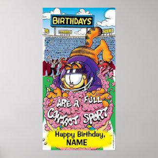 """Cumpleaños de Garfield """"del deporte de contacto co Posters"""