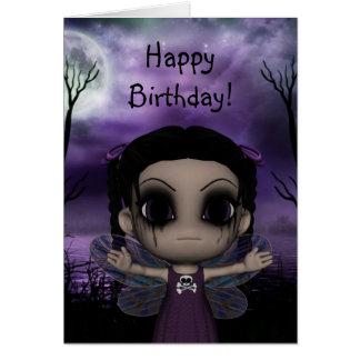 Cumpleaños de hadas gótico 3 de la diversión linda felicitaciones