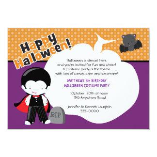 """Cumpleaños de Halloween de Drácula y del palo Invitación 5"""" X 7"""""""