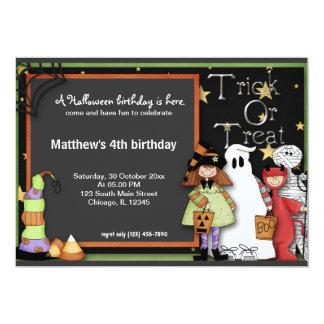 """Cumpleaños de Halloween del truco o de la Invitación 5"""" X 7"""""""