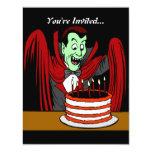 Cumpleaños de Halloween del vampiro de Drácula Comunicados