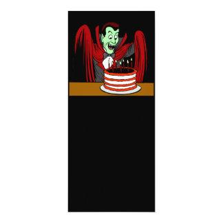 """Cumpleaños de Halloween del vampiro de Drácula Invitación 4"""" X 9.25"""""""