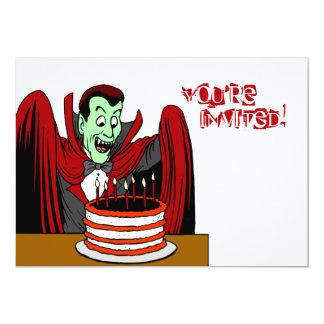 """Cumpleaños de Halloween del vampiro de Drácula Invitación 5"""" X 7"""""""
