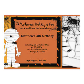 Cumpleaños de Halloween Comunicados Personales