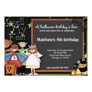 """Cumpleaños de Halloween Invitación 5"""" X 7"""""""