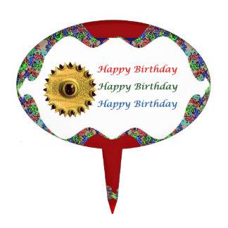 Cumpleaños de HappyBirthday   del ojo del DRAGÓN Figura De Tarta