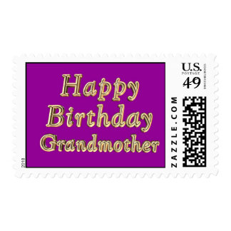 Cumpleaños de la abuela de la abuela del feliz sellos
