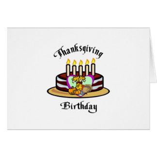 Cumpleaños de la acción de gracias tarjetas