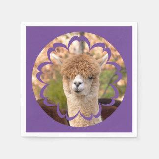 Cumpleaños de la alpaca servilletas de papel