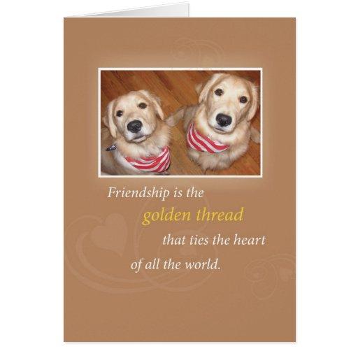 Cumpleaños de la amistad de 2740 perros tarjeta de felicitación