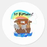 Cumpleaños de la arca de Noah 1r Etiqueta