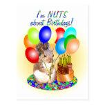 Cumpleaños de la ardilla postales