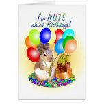 Cumpleaños de la ardilla tarjeta