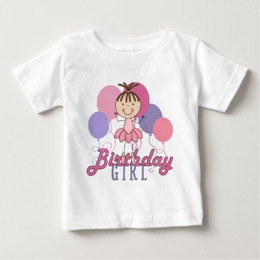 Cumpleaños de la bailarina de los chicas playera