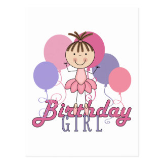 Cumpleaños de la bailarina de los chicas postales