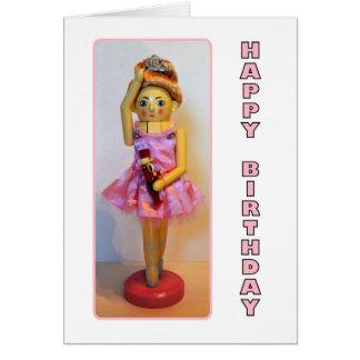 Cumpleaños de la bailarina del cascanueces feliz tarjeta de felicitación