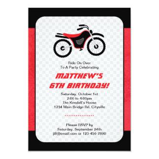 Cumpleaños de la bici del motor invitaciones personalizada