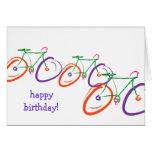 cumpleaños de la bicicleta tarjeta