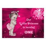 Cumpleaños de la bola de discoteca de princesa Pin Comunicados Personalizados
