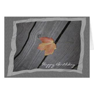 Cumpleaños de la caída tarjetas