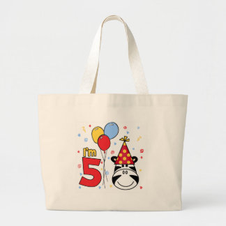 Cumpleaños de la cara de la cebra 5to bolsa
