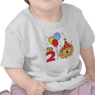 Cumpleaños de la cara del león 2do camiseta