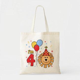 Cumpleaños de la cara del león 4to bolsa tela barata