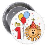 Cumpleaños de la cara del león primer pin
