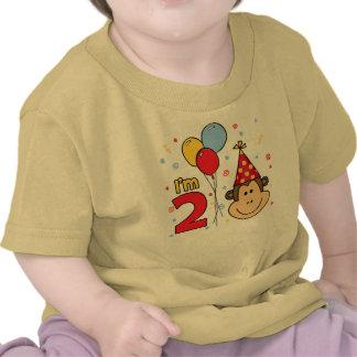 Cumpleaños de la cara del mono 2do camisetas