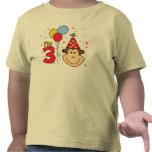 Cumpleaños de la cara del mono 3ro camisetas