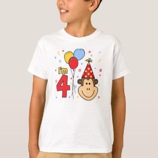 Cumpleaños de la cara del mono 4to playera
