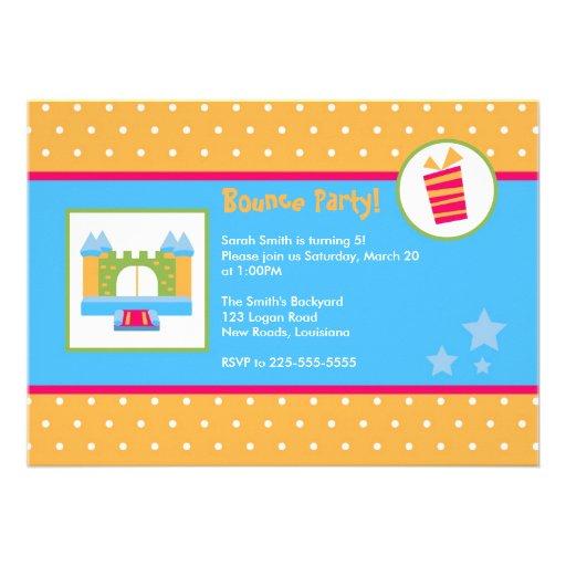 Cumpleaños de la casa de la despedida invitaciones personalizada