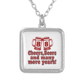 Cumpleaños de la cerveza de 88 alegrías colgante cuadrado