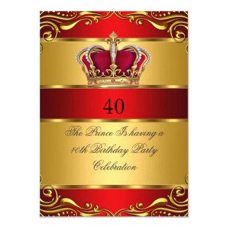"""Cumpleaños de la corona del príncipe rey Regal Red Invitación 4.5"""" X 6.25"""""""