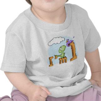 Cumpleaños de la diversión de Dino 1r Camiseta
