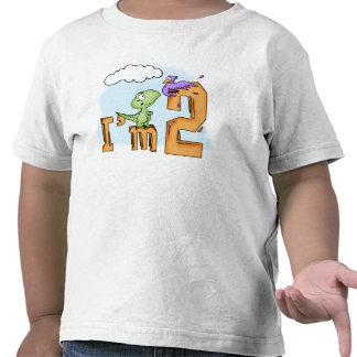 Cumpleaños de la diversión de Dino 2do Camiseta