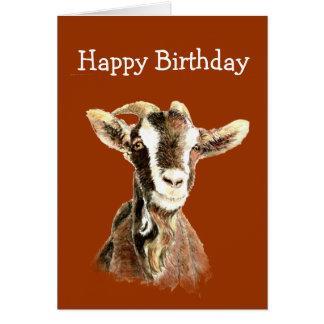 Cumpleaños de la diversión, de la cabra vieja que  tarjeta de felicitación