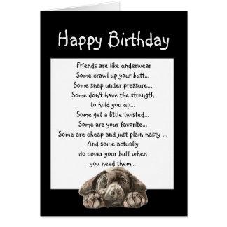 Cumpleaños de la diversión para el amigo que cubre tarjeta de felicitación