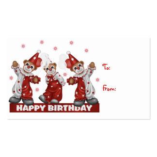 Cumpleaños de la etiqueta del regalo del payaso fe tarjeta personal